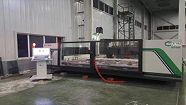 GREEN VINE 4 AXIS HORIZONTAL CNC WORKING CENTER IS